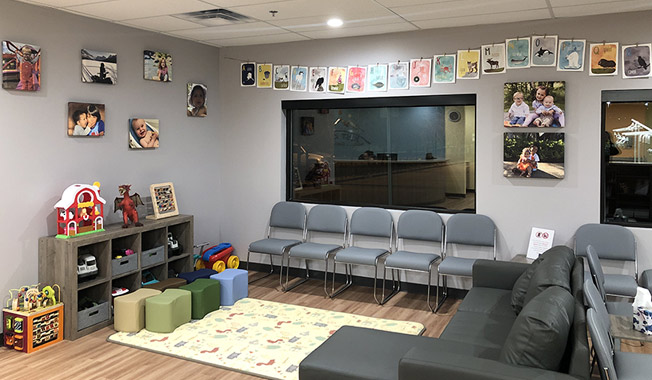 Just Kids Pediatric Dentistry waiting room